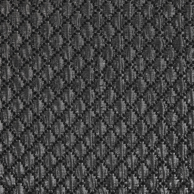 metallic silver black quilted brocade 309481 11
