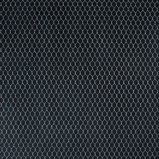 metallic silver fishnet 110374 11