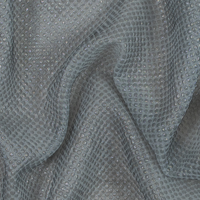 metallic transparent gray diamond quilted brocade 118975 11