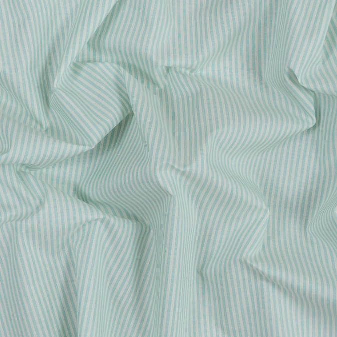 mint and white candy striped cotton shirting 318784 11