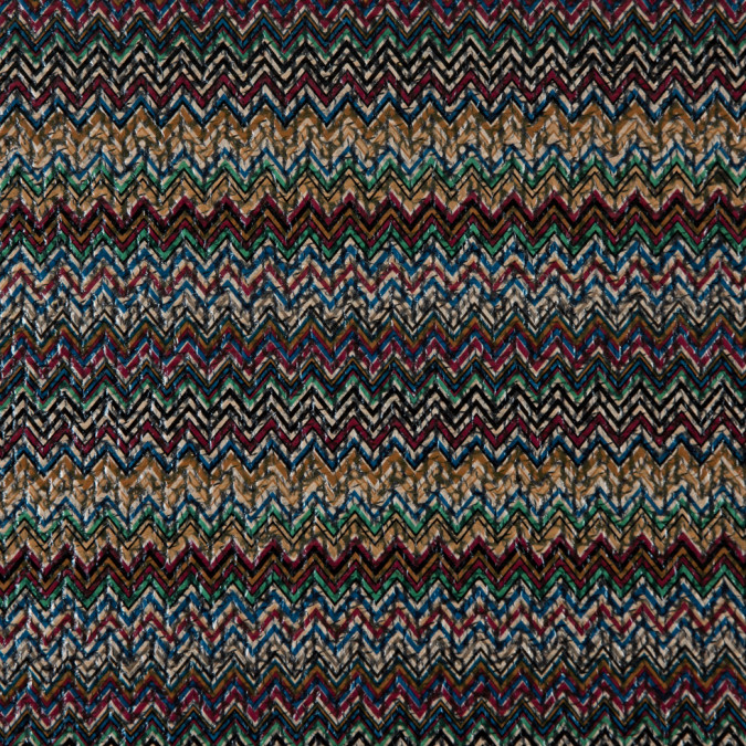 multi colored chevron laminated polyester tweed 310978 11