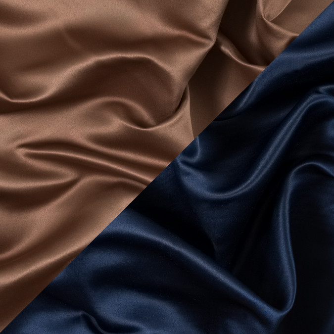 navy and brown sugar two tone double duchesse satin 312582 11