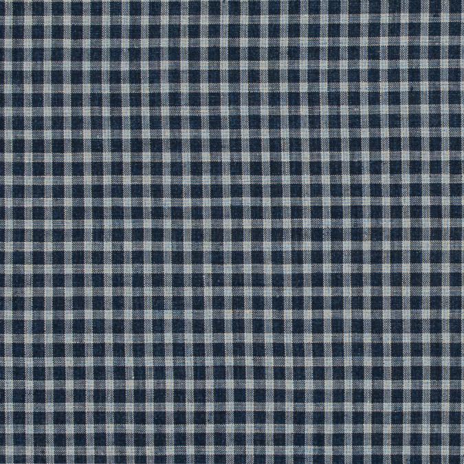 navy and ivory checkered linen woven 317589 11