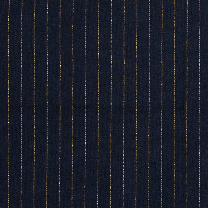 navy and metallic gold pencil striped creped tweed 319120 11