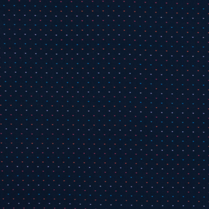 navy luxury cotton shirting with multicolor spots 118432 11