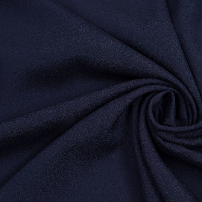 navy mechanical stretch polyester crepe de chine 306659 11
