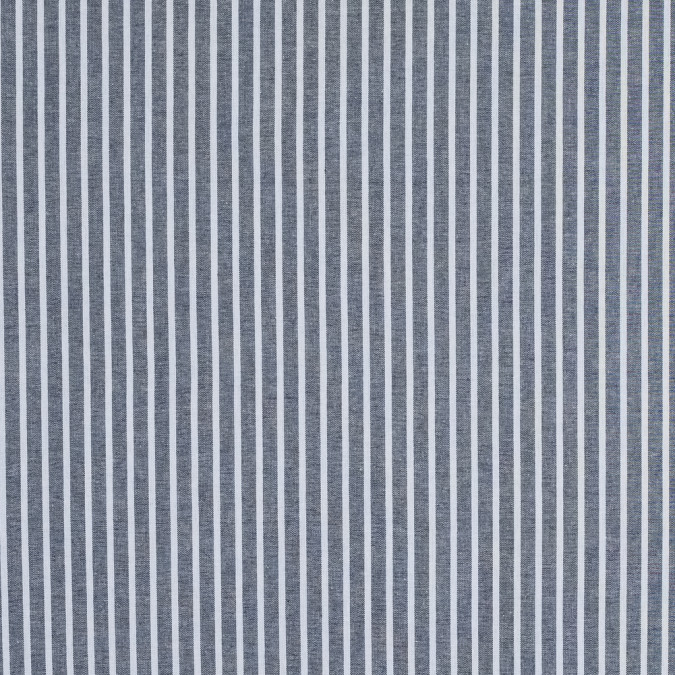 navy pencil striped cotton chambray 316483 11