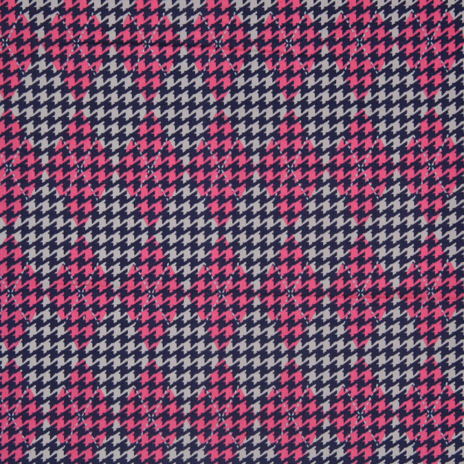 navy pink gray argyle houndstooth stretch cotton sateen 307118 11