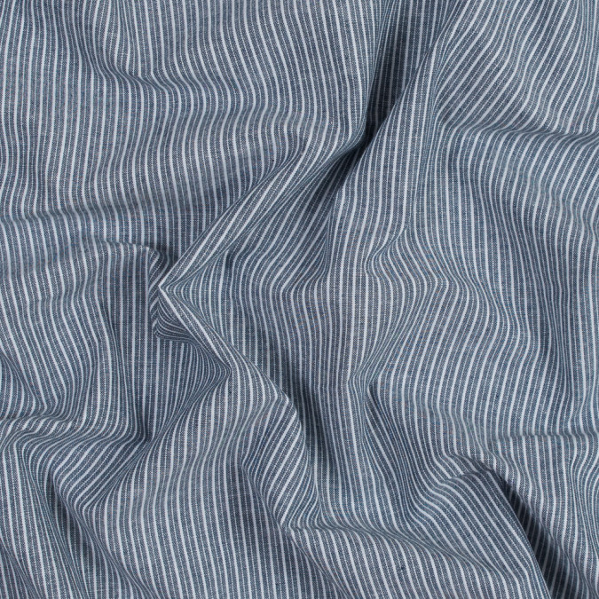 navy striped cotton chambray 316486 11