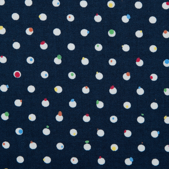 navy white artistically spotted polka dots on a cotton sateen 114181 11