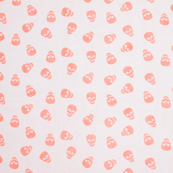 neon coral scattered skulls printed chiffon 307030 11