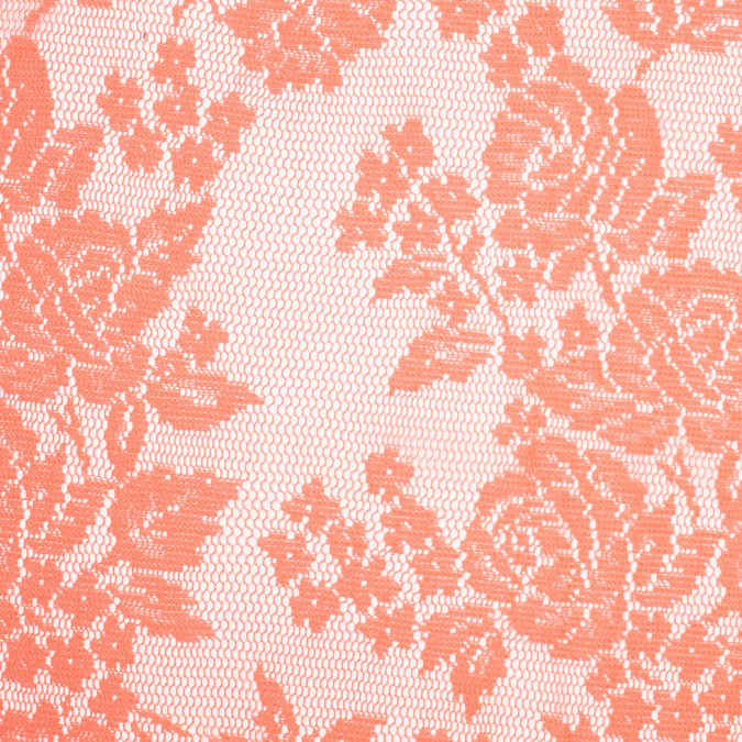 neon salmon floral polyester heavy crochet lace 307006 11