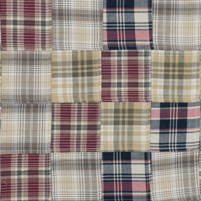 new wheat and earth red patchwork cotton madras 314854 11