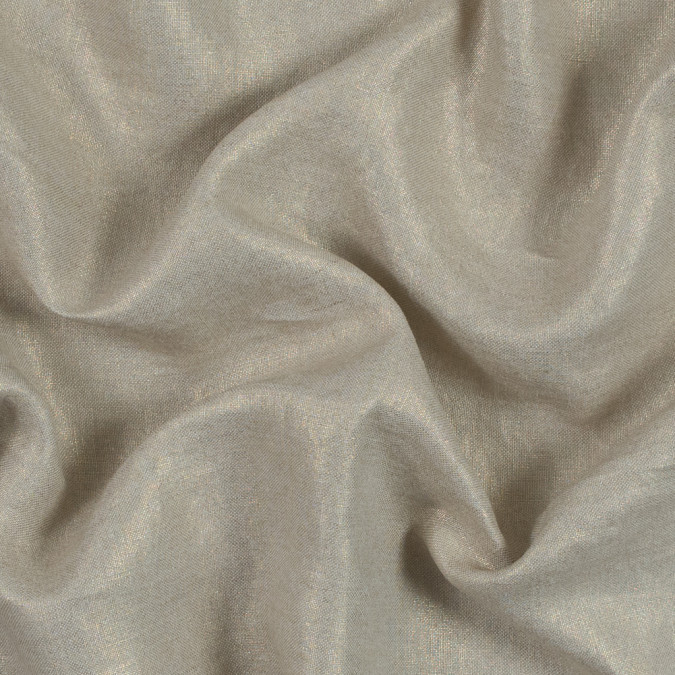 oatmeal linen woven with gold foil 317602 11