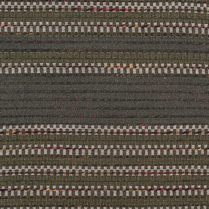 olive dimensional stripes blended wool tweed 307922 11