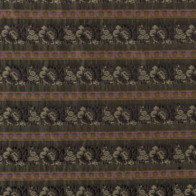 olive green polyester blend with woven floral stripes 315120 11