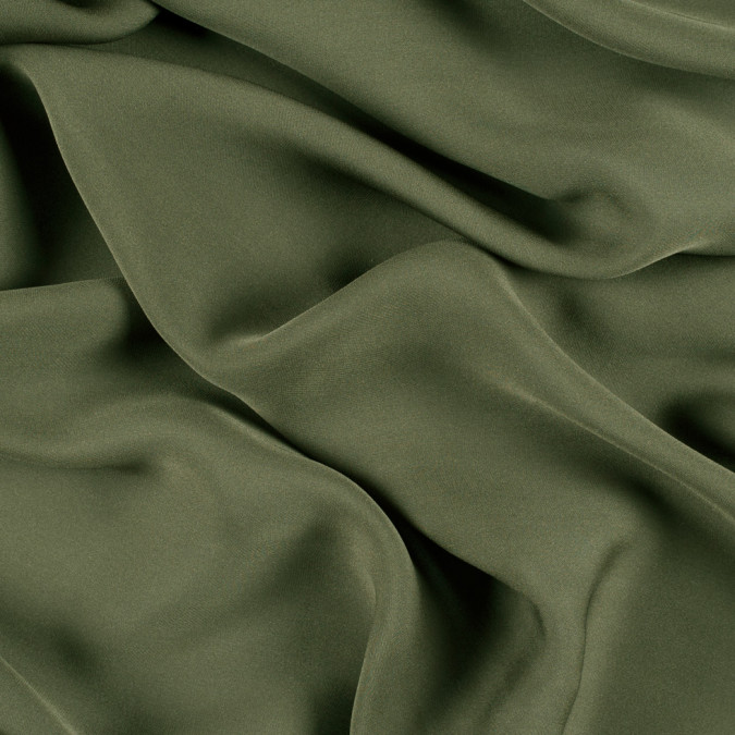 olive green silk double georgette pv6000 142 11