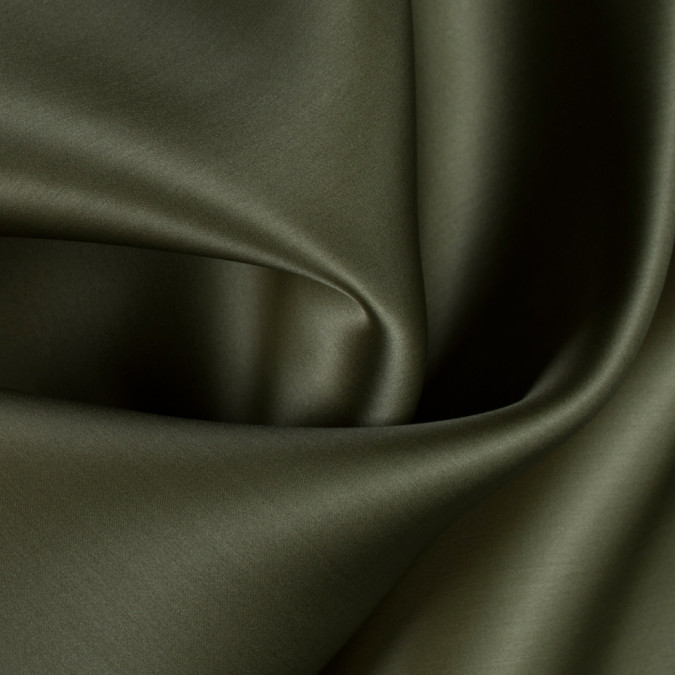 olive green wide silk satin face organza pv4000 142 11