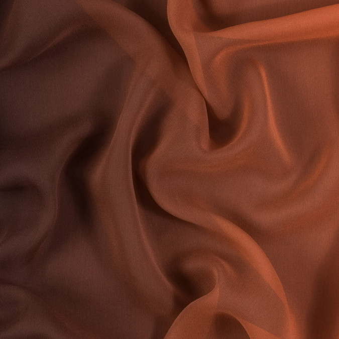 orange and brown ombre silk chiffon 314014 11