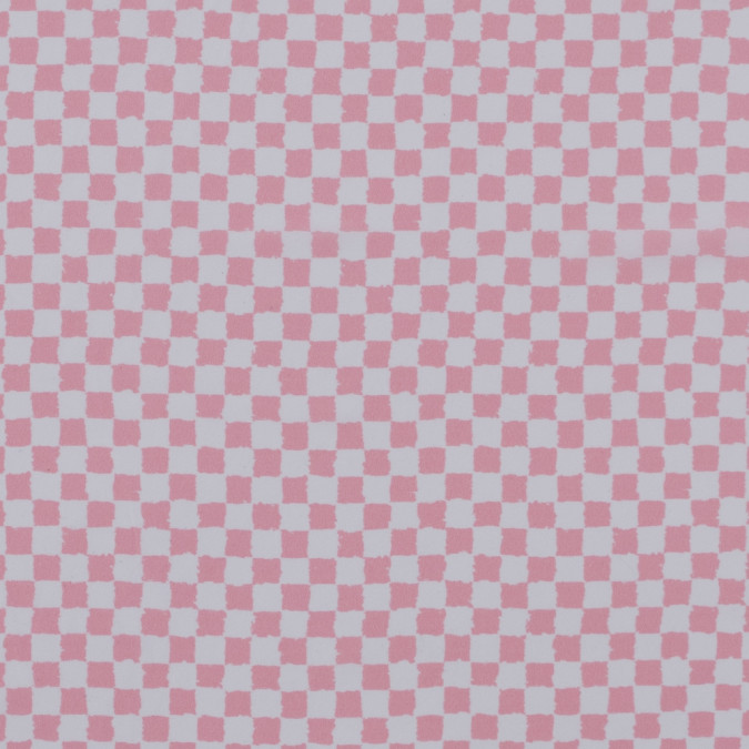 oscare de la renta peony pink checkered stretch silk crepe de chine 313213 11