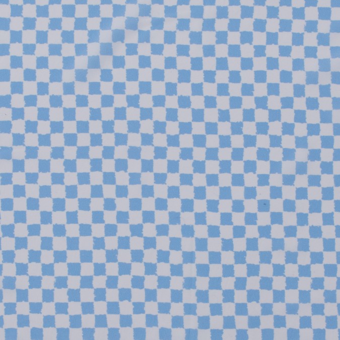 oscare de la renta sky blue checkered stretch silk crepe de chine 312965 11