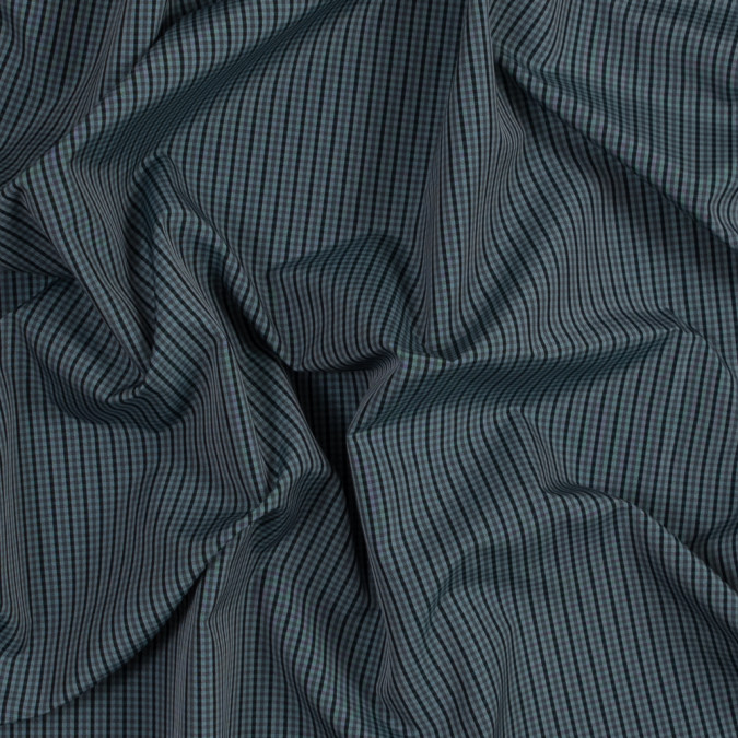 pale blue and teal plaid polyester taffeta lining 319078 11