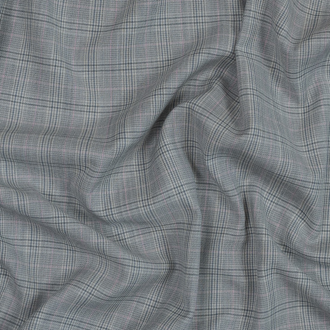 pale gray and pink plaid lightweight wool woven 319063 11
