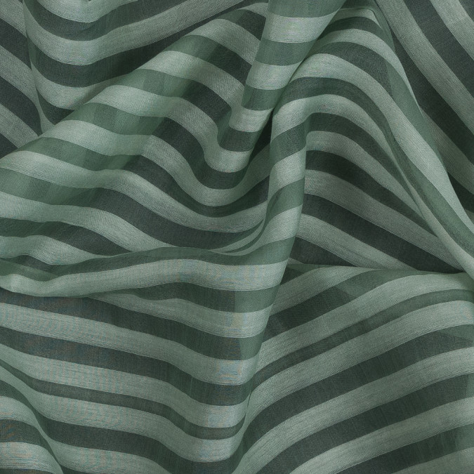 pea green awning striped silk organza 319330 11