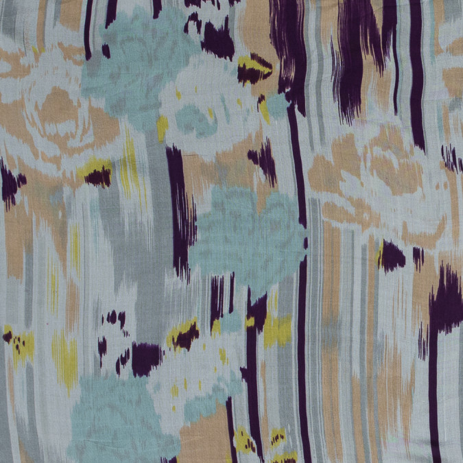 peach purple and blue abstract printed silk chiffon 315926 11