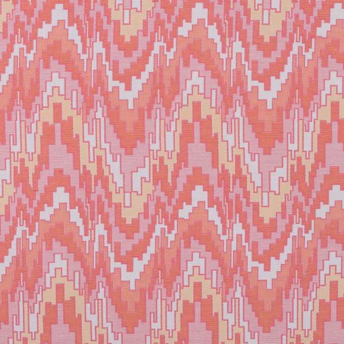 peach pink and golden haze geometric blended cotton woven 315215 11