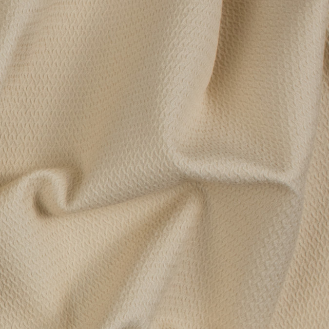 pearled ivory textural stretch cotton woven 310703 11