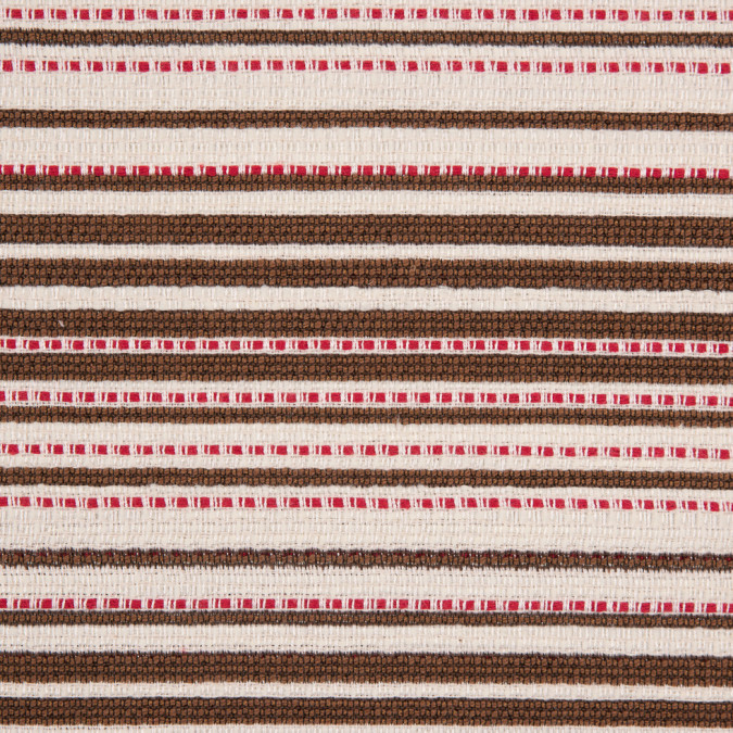 peppermint bark striped double face cotton woven 310812 11