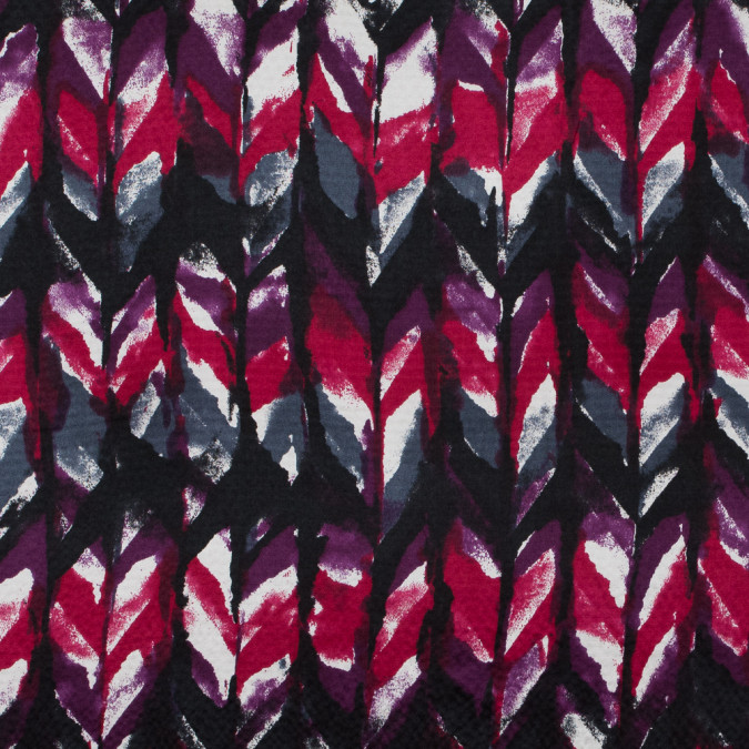 phlox purple raspberry wine and black abstract hammered silk charmeuse 315707 11