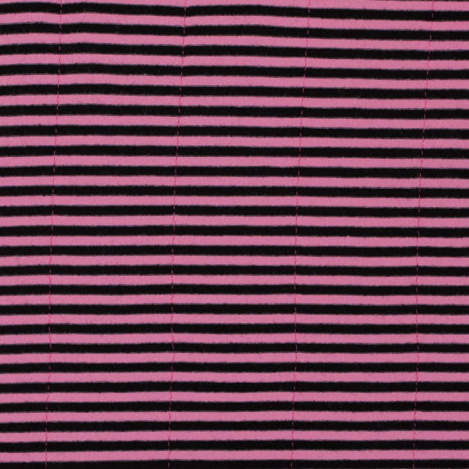 pink and black striped cotton jersey with sewn in magenta interlock stripes 315881 11