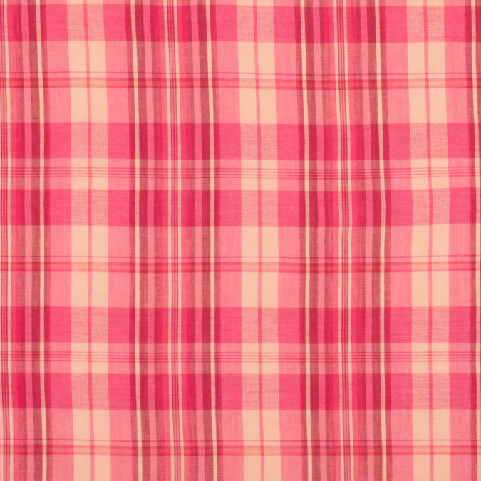 pink salmon plaid lightweight cotton voile 308166 11