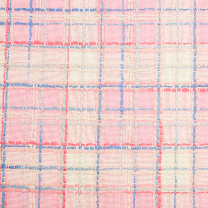 pink yellow plaid wool rayon woven 306520 11