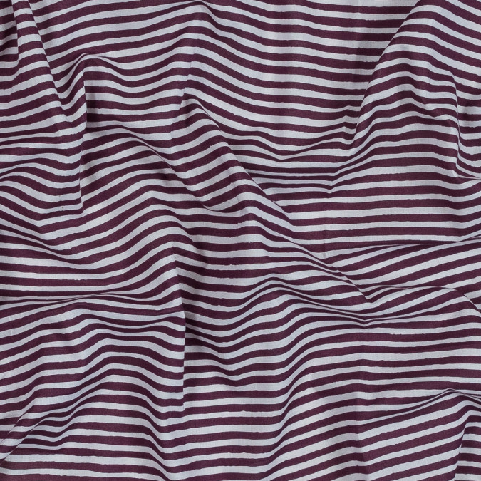 port royale and white organic bengal striped cotton voile 318863 11
