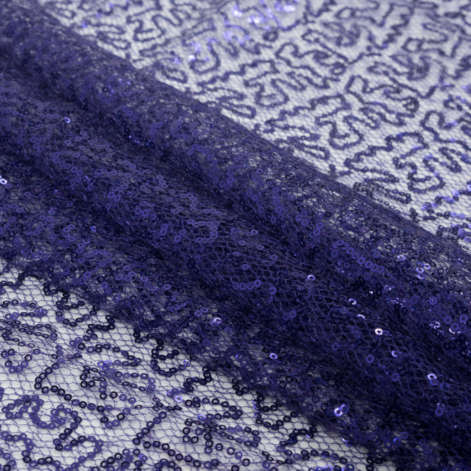 purple all over circle baby sequins on netting 318553 11