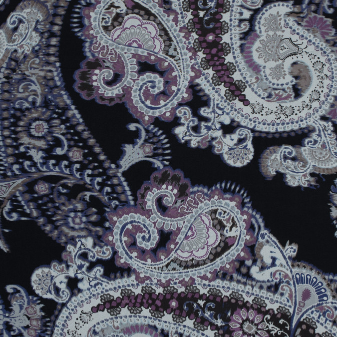purple and black paisley printed silk chiffon 315922 11