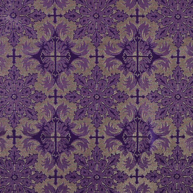 purple and metallic gold vestment jacquard 318335 11