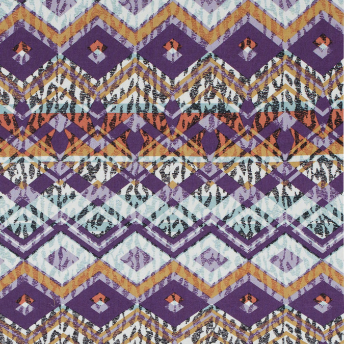 purple mustard tribal printed cotton voile 114118 11