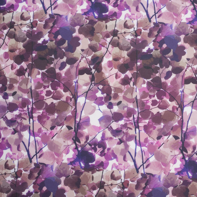 purple tree branches digitally printed stretch neoprene scuba knit 307450 11