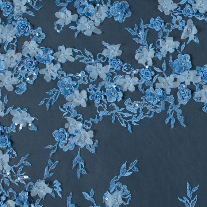 radiant light blue 3d floral embroidered tulle with beads and sequins 117697 11