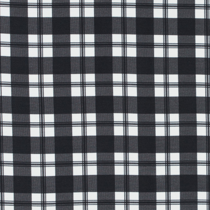 ralph lauren black and white tartan plaid rayon and silk twill 313694 11