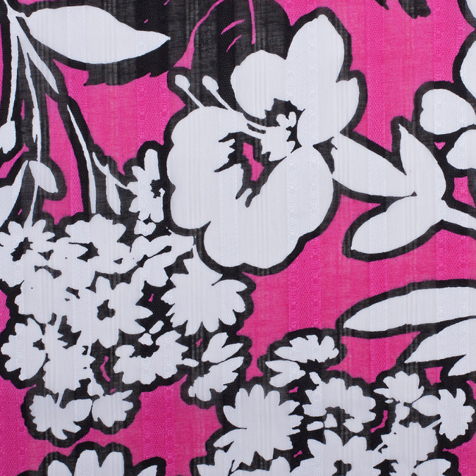 raspberry white black floral textured sheer cotton woven 308578 11