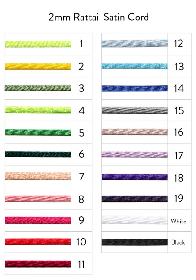 rattail color chart