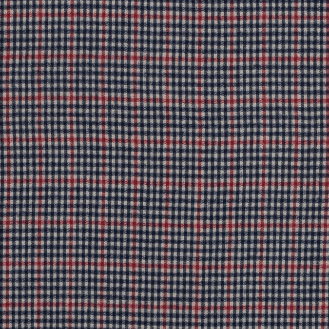 red navy and beige plaid japanese cotton flannel 318894 11