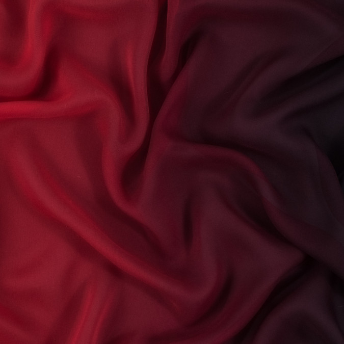 red and black ombre silk chiffon 314005 11