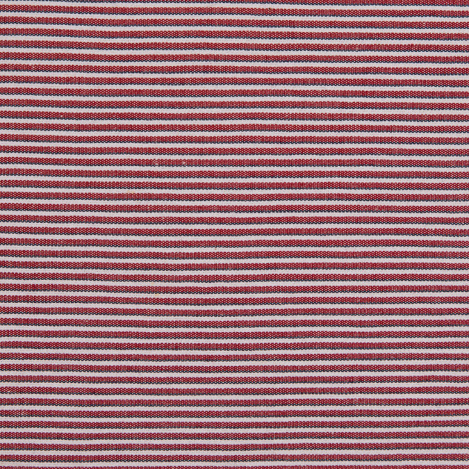red blue white raised shadow stripes on stretch cotton woven 310581 11