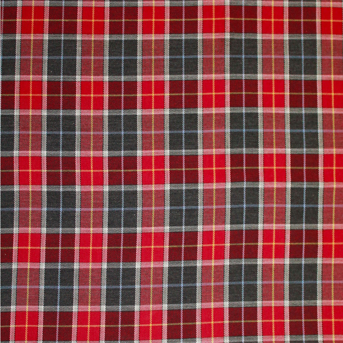 red gray tartan plaid flannelled cotton shirting 308621 11